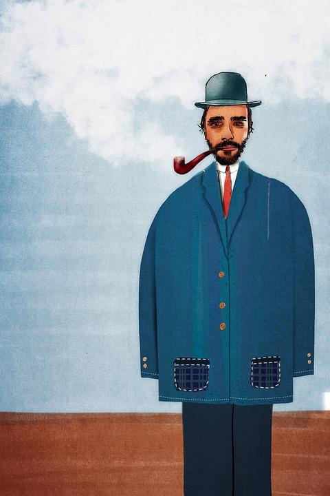 Man, Vintage Fashion, Smoking Pipe