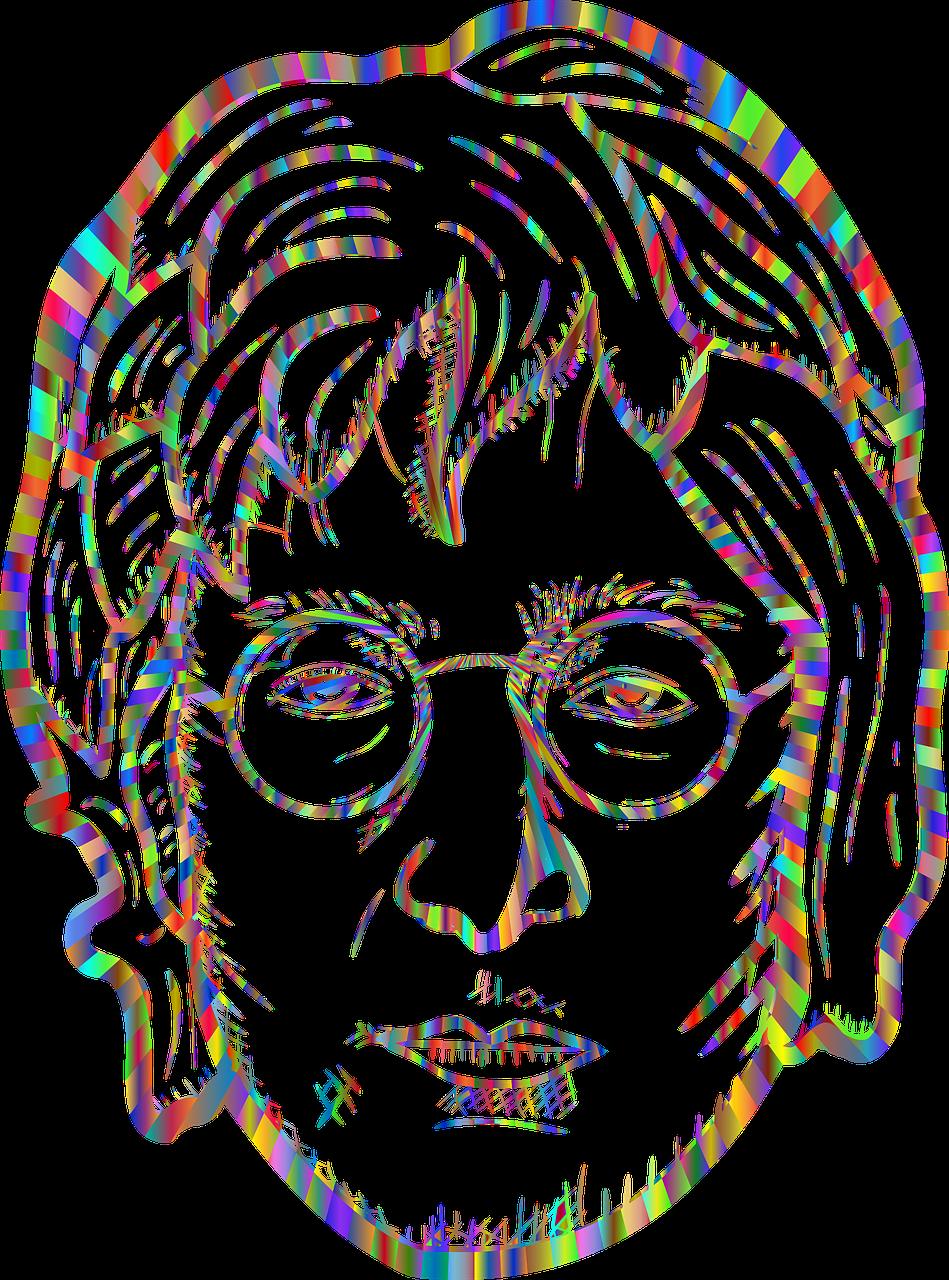 John Lennon Beatles Portrait Line Free Vector Graphic On Pixabay