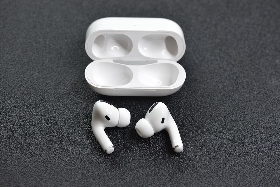 Earphones, Apple, Airpods, Pro, White, Music