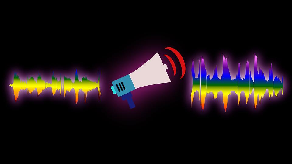 喊话器, 声波, 声音, 波, 扬声器, 音乐, 音频, 宣布, 公告, 波黑