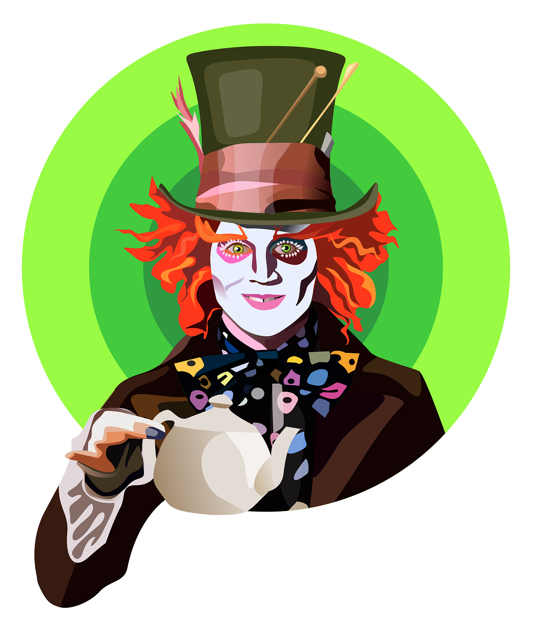 Johnny Depp Mad Hatter Free Vector Graphic On Pixabay