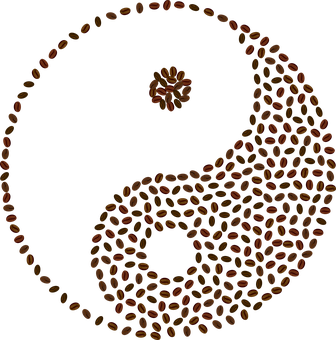 Yin Yang, Café, Grains De Café, Résumé