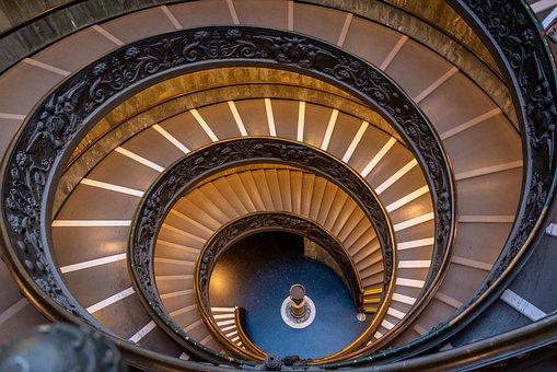 ローマ, バチカン市国, 階段, イタリア, ローマ教皇, アーキテクチャ
