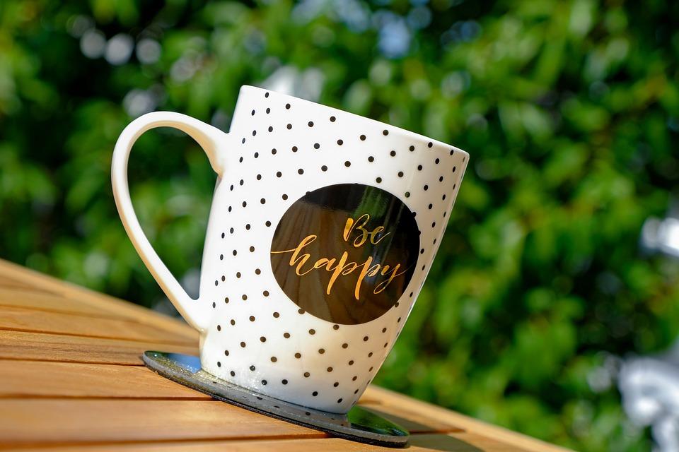 Kopje Koffie, Gelukkig Zijn, Cup, Koffie, Cafe, Drinken