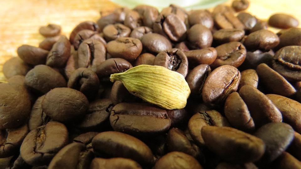 Зерна Кофе И Кардамон, Арабский Кофе, Кофе, Кардамон