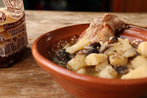 Conejo, Estofado, Los Alimentos, Arcilla