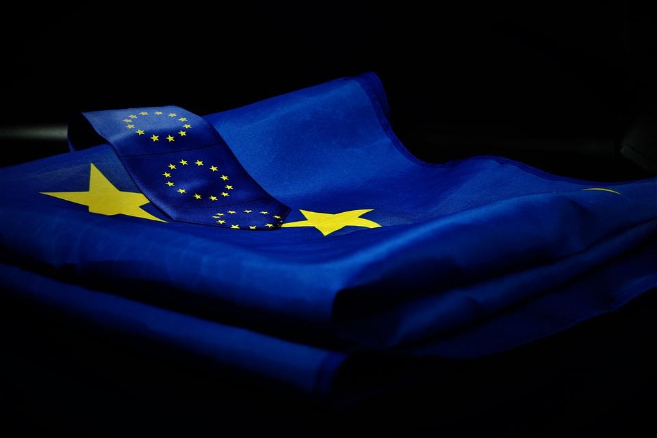 Европа, Europatag, Флаг Ес, Галстук, Флаг, Синий