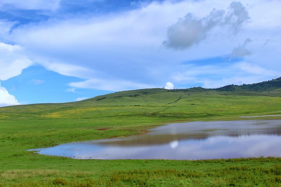 Ngorongoro, Tanzanie, Nuages, Paysage, Nature, Été