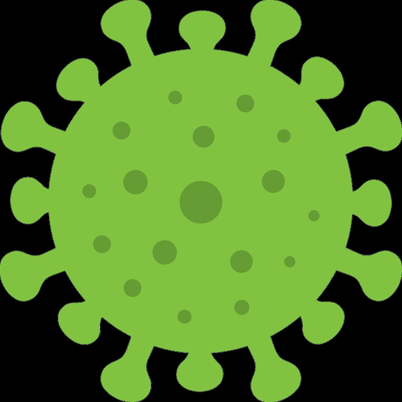 Corona Grün Gepunktet - Kostenlose Vektorgrafik auf Pixabay