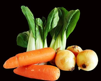 Vegetables, Food, Carrots, Onions
