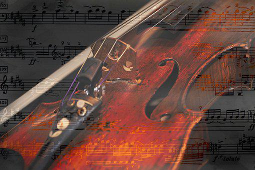 Sheet Music, Music Notes, Violinist