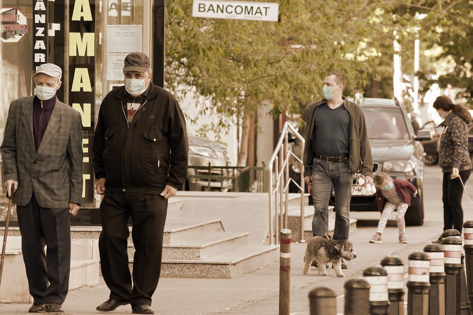 People, Going, The Sidewalk, The Masks, The Pandemic