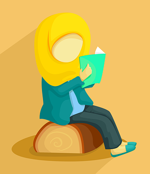 Girl, Design, Flat, Cartoon, Muslim