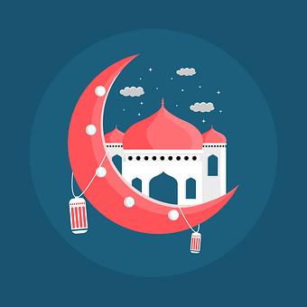Background, Lantern, Mosque, Arabic