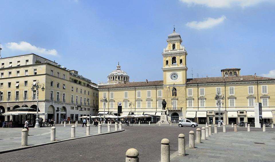 Italia, Parma, Luogo, Hotel City, Municipio, Facciate