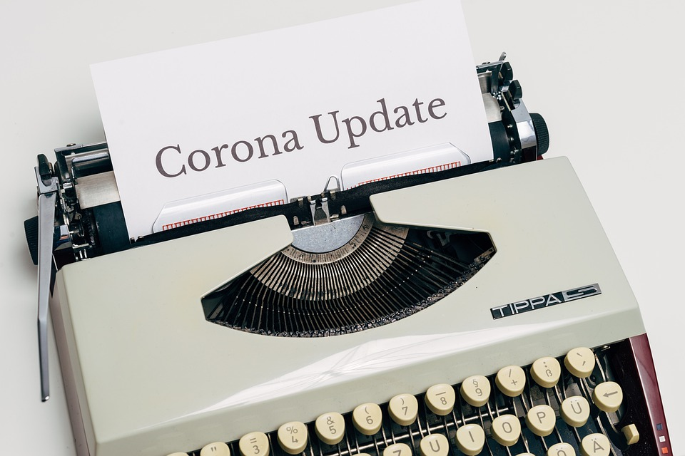 Corona, Typewriter, Virus, Pandemic, Covid-19, Update