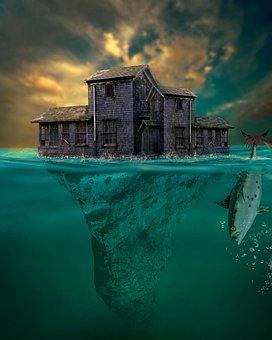 House, Prison, Abandoned, Isolated, Sea