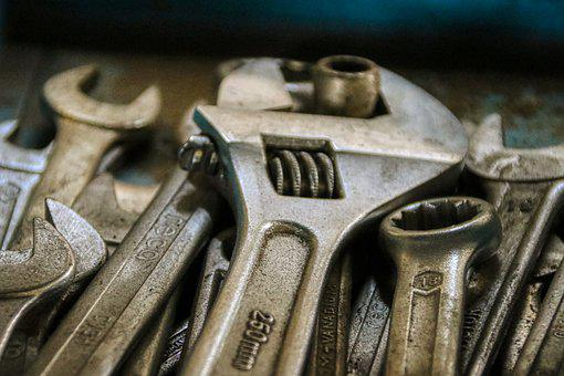 Chave, chave, reparo, ferramenta, manutenção