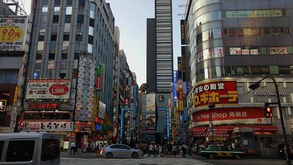 新宿, 東京, 日本, 建物, 夜, 市, メトロポリス, 高層ビル, バー
