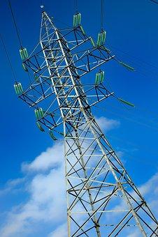 Pole, Cielo, Power, Electricity, Lines