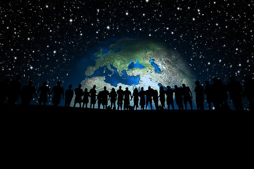 Human, Human Chain, Earth, Globe, Europe
