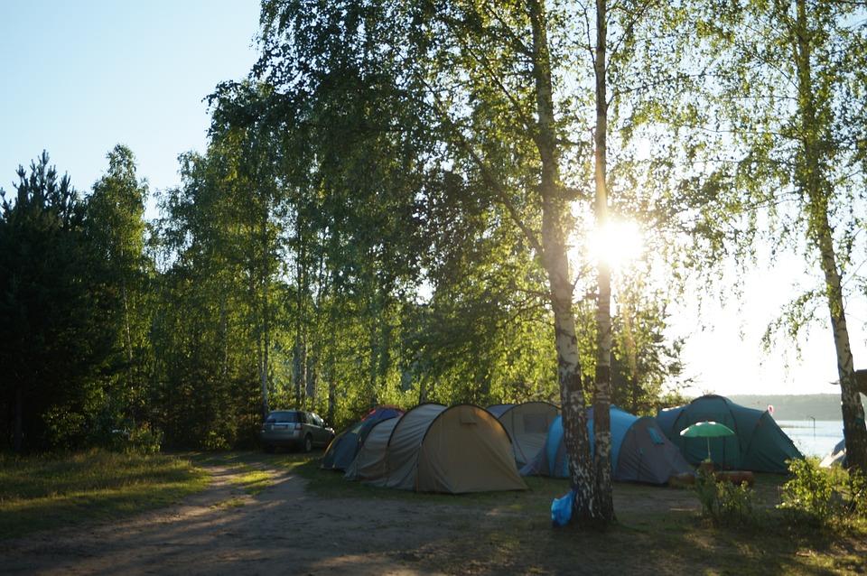 朝, 夜明け, 夏, キャンプ, テント, 空, 風景, 自然, 雲, 太陽, 美しい, 旅行