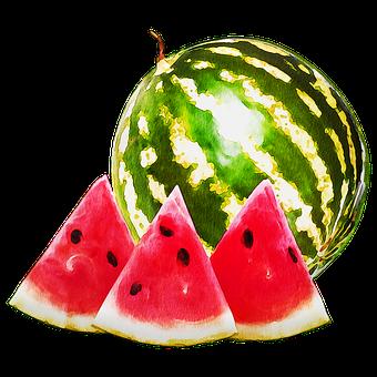 Watercolor Watermelon, Watermelon, Melon