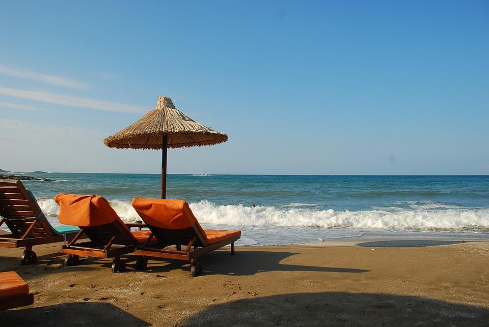 Greece, Crete, Beach, Sea, Landscape, Summer, Holiday