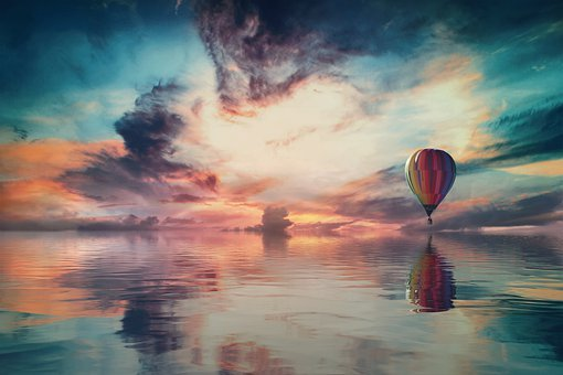 Landscape, Fantasy, Sky, Clouds