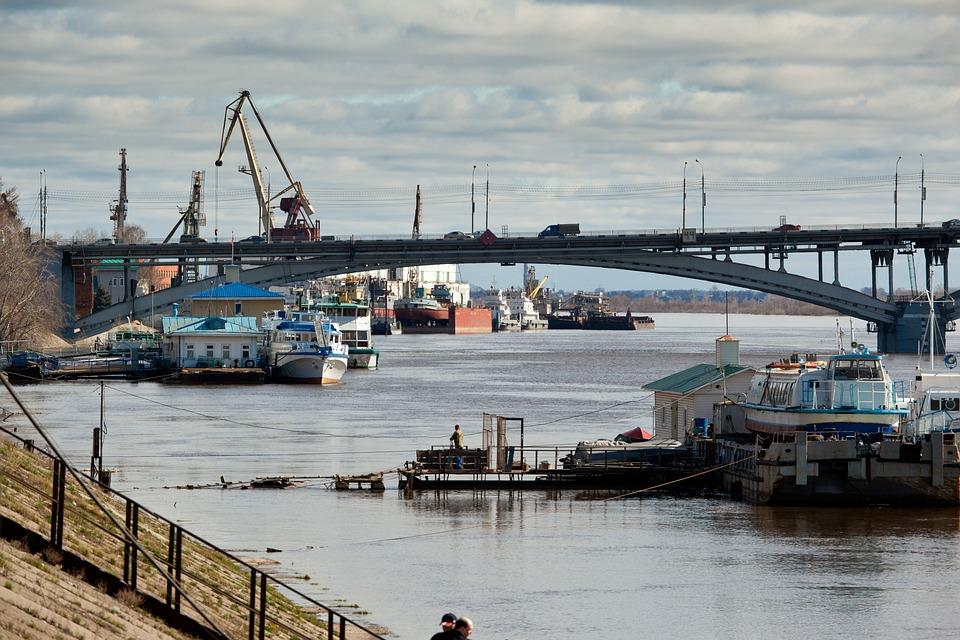 Nizjnij Novgorod, Volga, Bridge, Elven, Norge