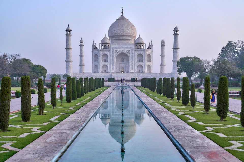 Kultur-Tourismus, Taj Mahal, Garten, Sehr Schön