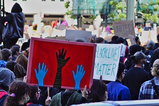 Blm, Black Lives Matter, Protest, Police