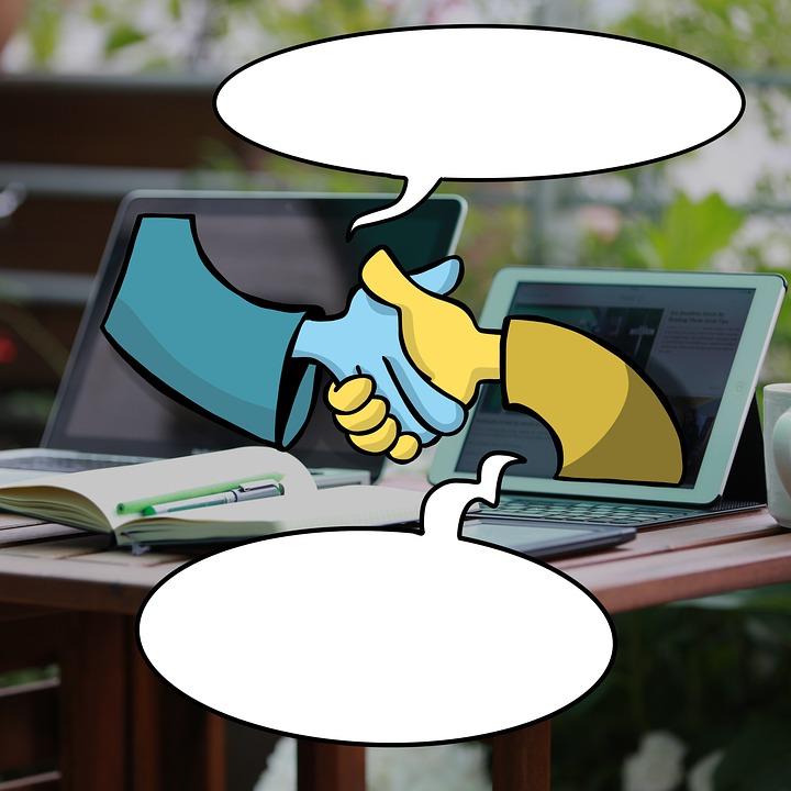 Online-Lernen, Webinar, Videokonferenz, Verbindung