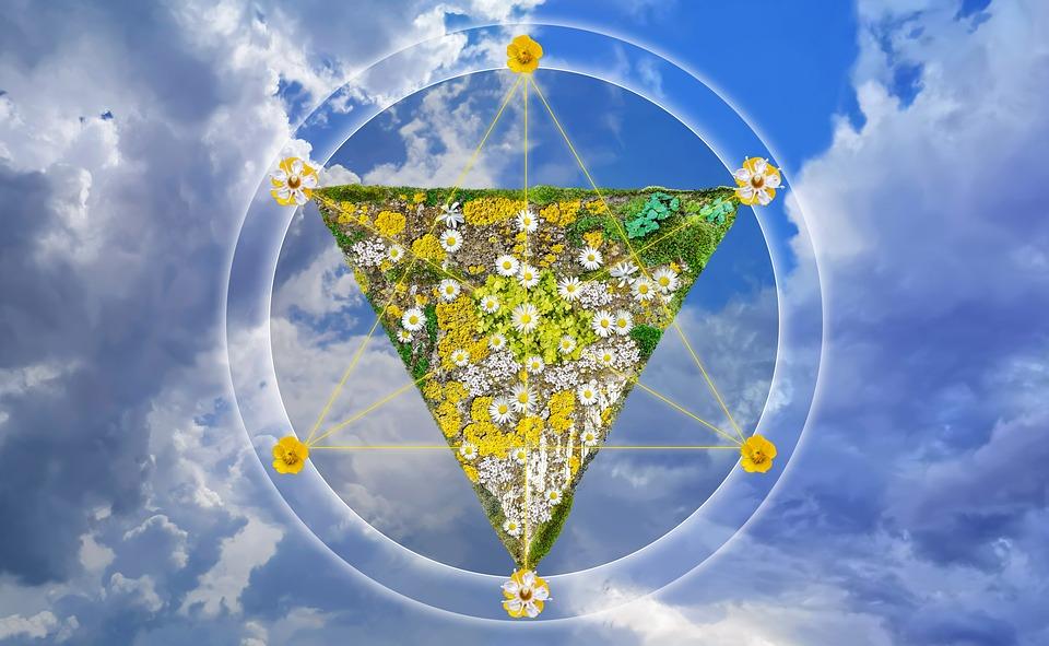 Bloemen, Albedo, Maan, Concept, Alchemie, Hexagram