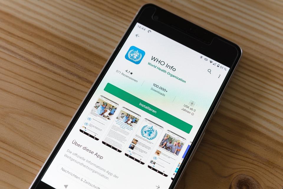 Who, App, Android, App Store, Corona, Virus, Covid19