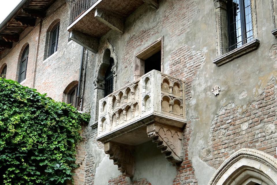 维罗纳, 意大利, 旅游, 罗密欧和朱丽叶, 天井, 阳台