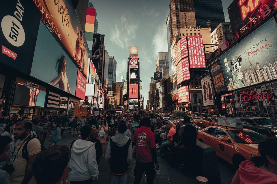Nyc, New York, Times Square, America, Manhattan, City