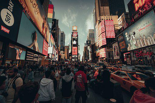Nyc, New York, Times Square, Amérique