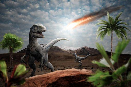 恐竜, 流星, 影響, 黙示録, ハルマゲドン, 絶滅します, 火の玉, 空