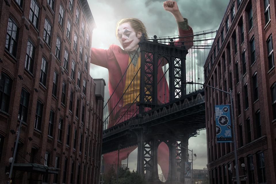 Joker, Fan-Art, Most Brookliński, Nowy Jork