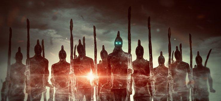 Fantasy, Army, Fighter, Warrior, Men
