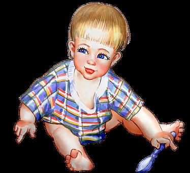 Vintage Kind, Junge, Mädchen, Baby
