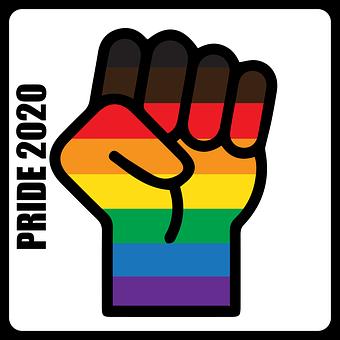 Pride, Fist, Blm, Racism, Rainbow, Gay