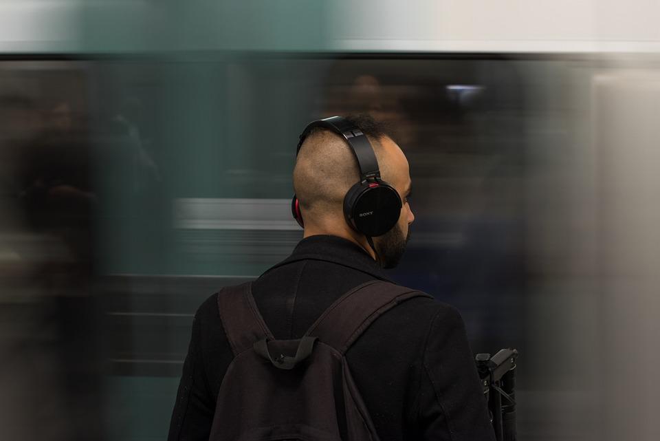 Headphones, Man, Music, Listen, People, Listening