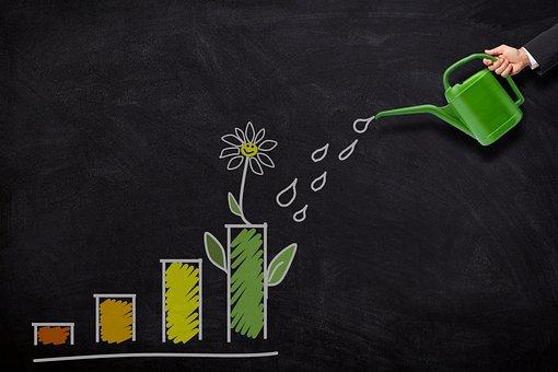 投資, 成長, 散水, することができます, お金, ファイナンス, ビジネス