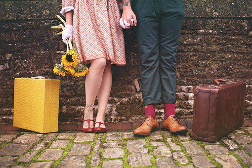 Couple, Romantic, Together, Vintage