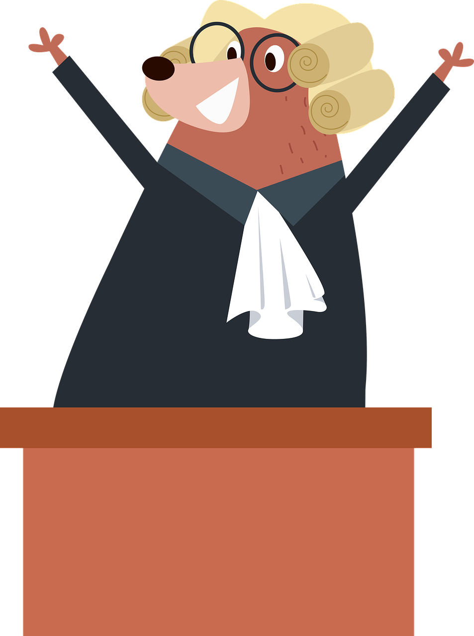A Friendly Female Judge – Clipart Cartoons By VectorToons