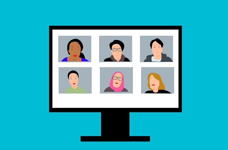 ウェビナー, テレビ会議, ビデオ, 呼び出す, カム, チャット, ズーム, 通信, コンピュータ