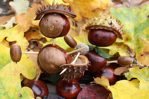 Kastanien, Basteln, Herbst