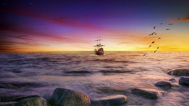 Landscape, Sea, Beach, Nature, Ocean